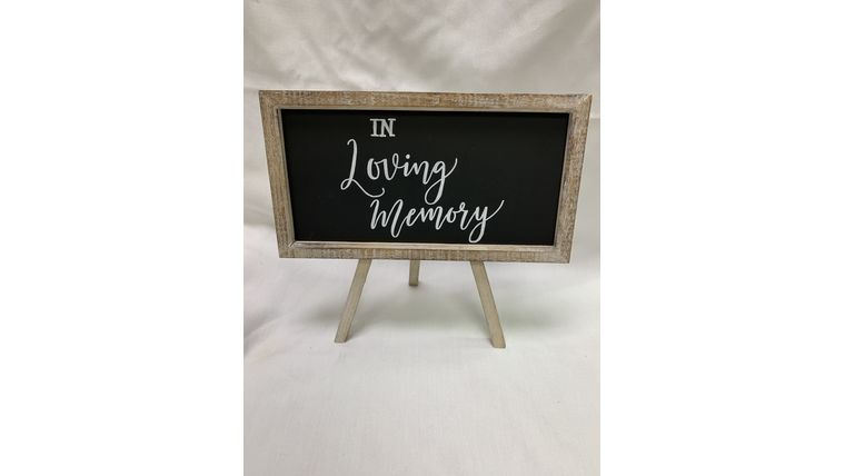 "Picture of a ""In Loving Memory"" Chalkboard (J)"