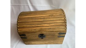 Image of a Treasure Chest Card Box - Brown/Wooden