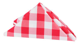 Image of a Gingham Polyester Napkin - Red/White