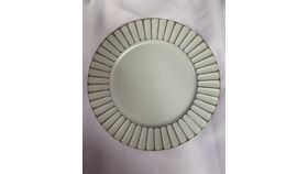 Image of a White Fluted Charger Plate