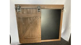 Image of a Barn Door Styled Chalkboard (W)