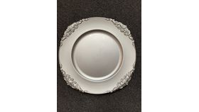 Image of a Silver Scalloped Charger Plate (J)
