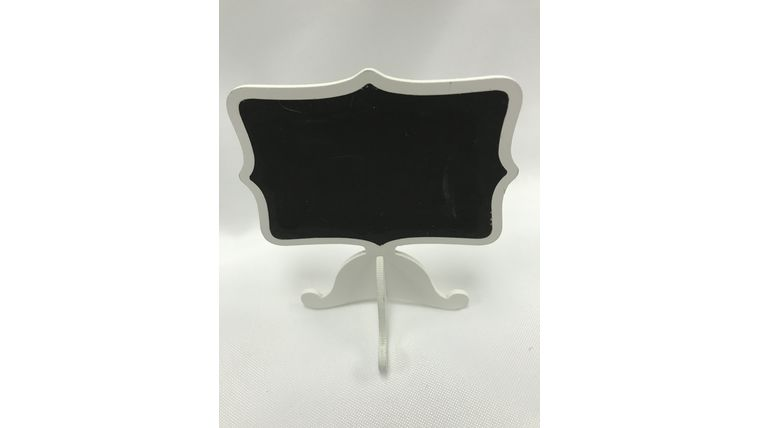 Picture of a Black and White Mini Chalkboard with Stand (S)