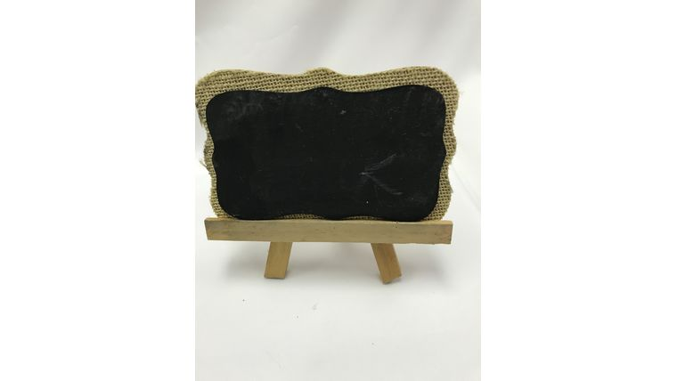 Picture of a Burlap Chalkboard Easel - small (K)