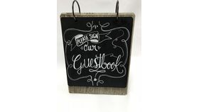 Image of a Flip Chalkboard Guestbook Sign (G)