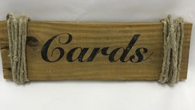 Image of a Cards Wood Sign