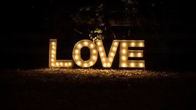 Image of a Lighted Love Sign - large