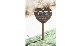 Image of a Best Day Ever Heart Wood Sign