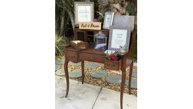 Image of a Antique Brown Desk