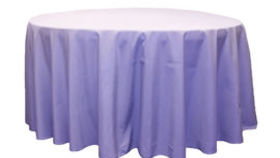 Image of a 120 Round Polyester Tablecloth - Lavender