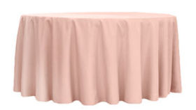 Image of a 120 Round Polyester Tablecloth - Blush