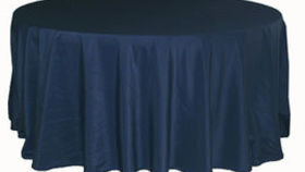 Image of a 120 Round Polyester Tablecloth - Navy Blue