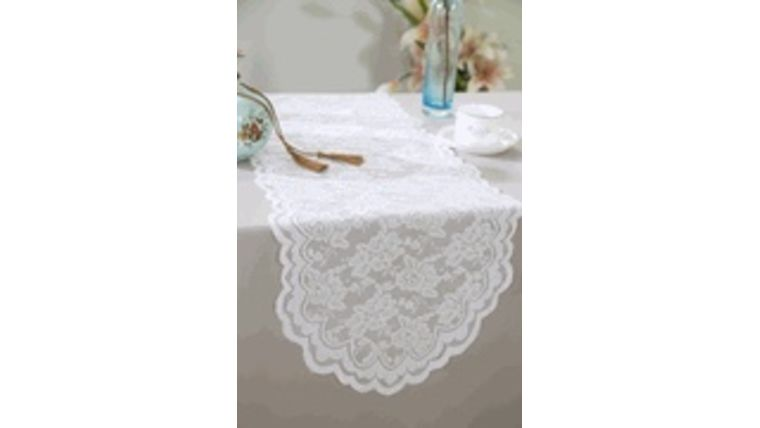 Picture of a Lace Table Runner - White