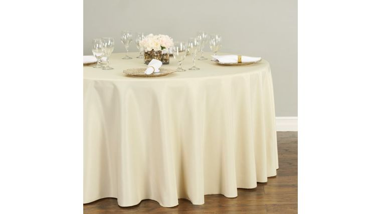 Picture of a 120 Round Polyester Tablecloth - Beige