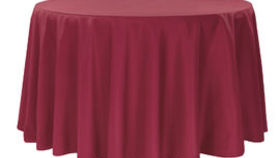 Image of a 120 Round Polyester Tablecloth -  Burgundy
