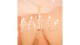Image of a 12 Arm Chandelier - White