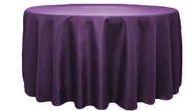 Image of a 120 Round Polyester Tablecloth - Eggplant