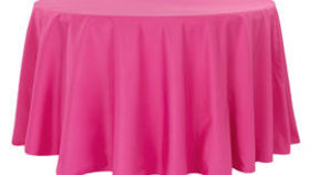 Image of a 108 Round Polyester Tablecloth - Fuchsia