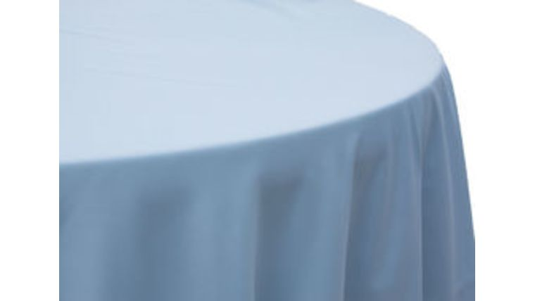 Picture of a 120 Round Polyester Tablecloth - Baby Blue