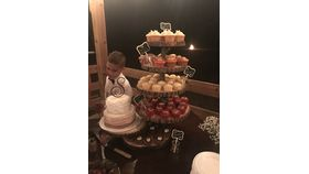 Image of a 6 Tier Wood Slice Sweets Stand (C)