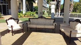 Image of a 3 Piece Vintage Sofa, Loveseat & Chair Set