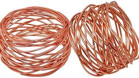 Image of a Copper Wire Napkin Ring