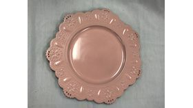 Image of a Charger - Light Pink Scalloped