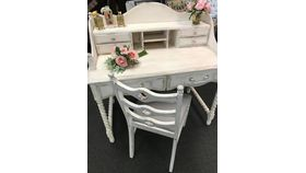 Image of a Distressed Writing Desk & Chair