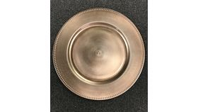 Image of a Copper Beaded Charger Plate (B)