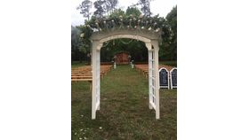 Image of a Crystal Set for White Trellis Arbor