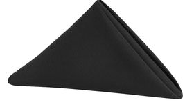 Image of a Polyester Napkin - Black