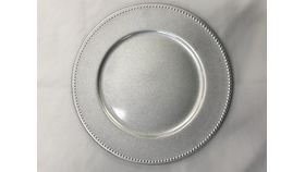 Image of a Silver Beaded Charger Plate (D)