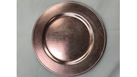 Image of a Rose Gold Beaded Charger Plate  (A)
