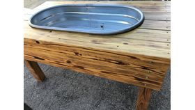 Image of a Beverage Trough - Wood