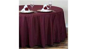 Image of a 120 Round Polyester Tablecloth - Dark Burgundy