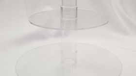 Image of a 3 Tier Acrylic Round Sweet Stand (F)