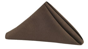 Image of a Polyester Napkin - Chocolate Brown