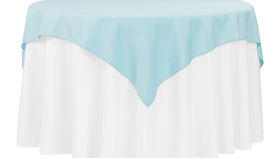 Image of a 54 x 54 Polyester Overlay - Baby Blue