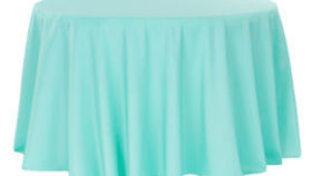 Image of a 120 Round Polyester Tablecloth - Light Turquoise