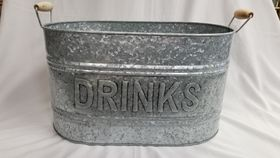 Image of a Tin Drink Oval Bucket