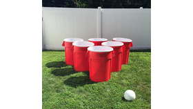 Image of a Giant Bucket Pong