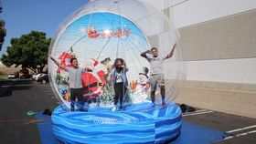 Image of a Giant Snow Globe Photo Booth