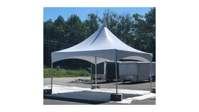 Image of a 15x15 White Festival Frame Tent Installed