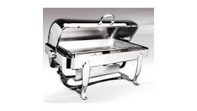 Image of a 8 Qt Madeline Rectangular Roll Top Chafing Dish