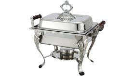 Image of a 4 Quart Chafing Dish - Square with Sterno