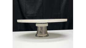 Image of a Cake - White Marble Cake Stand