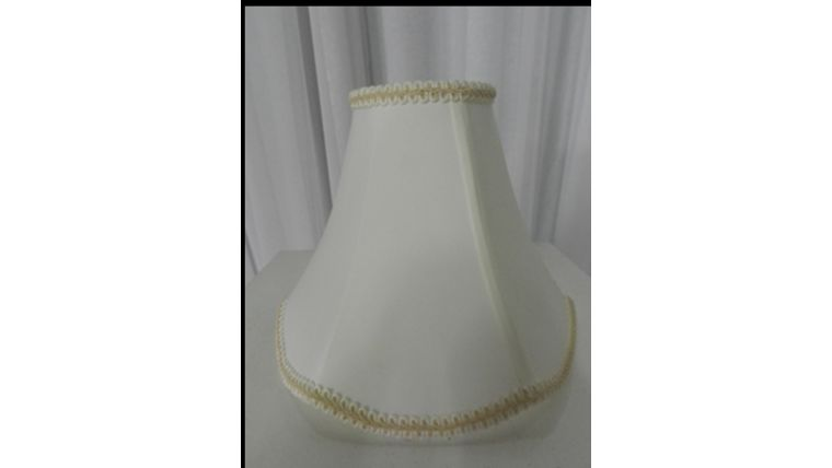 Picture of a Lampshade-Ivory Hexagon
