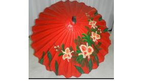 Image of a Umbrella-Red Oriental