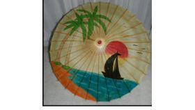 Image of a Umbrella-Bamboo Sunset Oriental