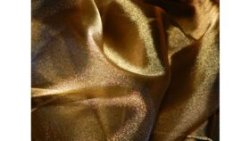 Image of a Table Runner-Gold Organza